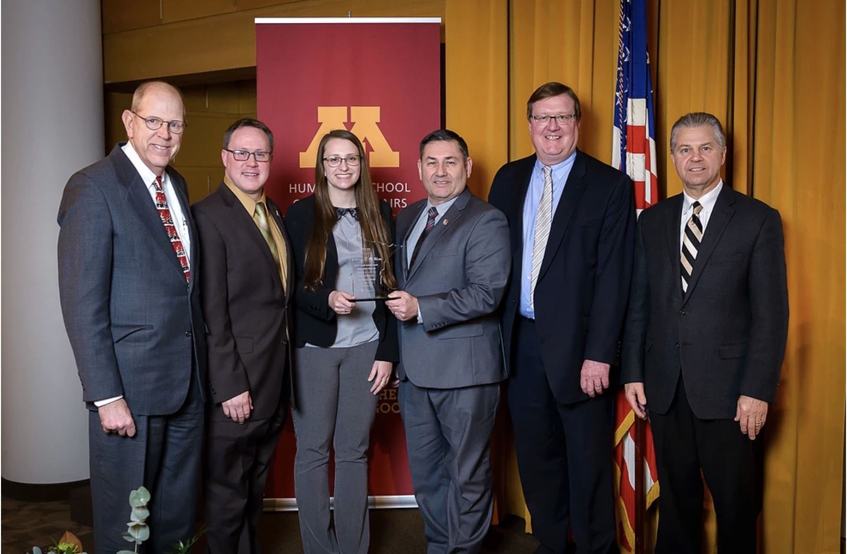 The Morris Model team accepts the 2017 MN Local Government Innovation Award for demonstrating outstanding leadership in improving city infrastructure, planning, and in the case of Morris, sustainability.