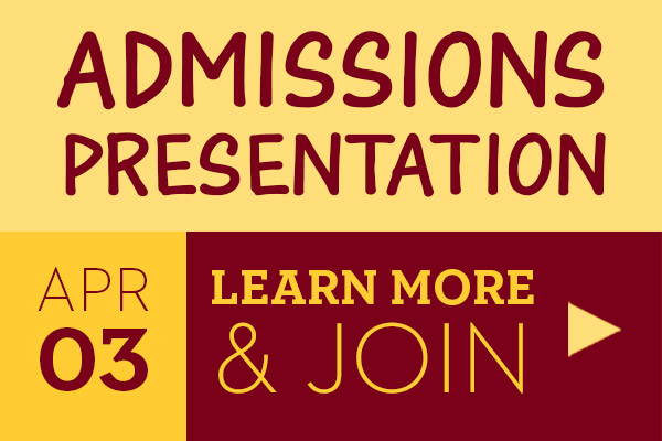 Admissions Presentation April 3.  Learn More and Join