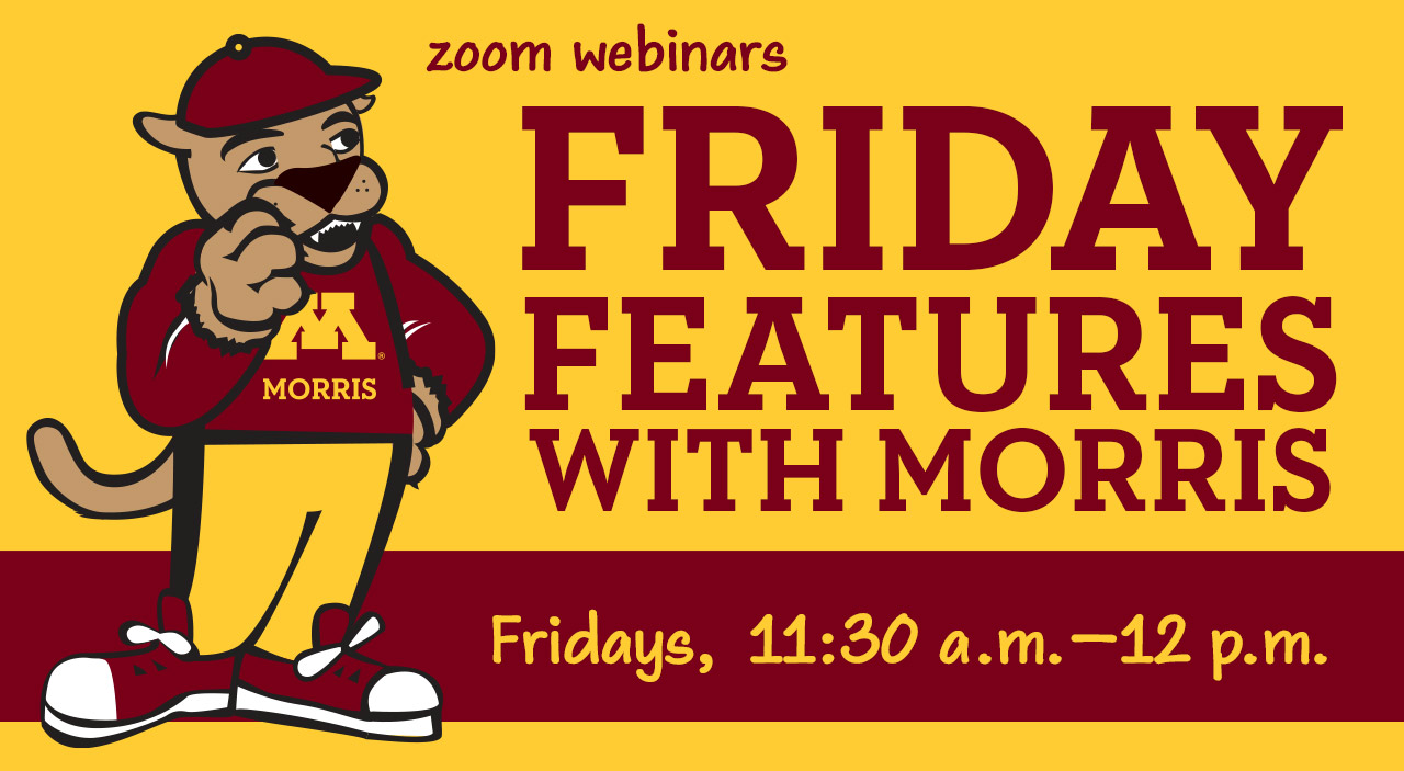 "Pounce the Cougar alongside text reading ""Friday Features with Morris"""