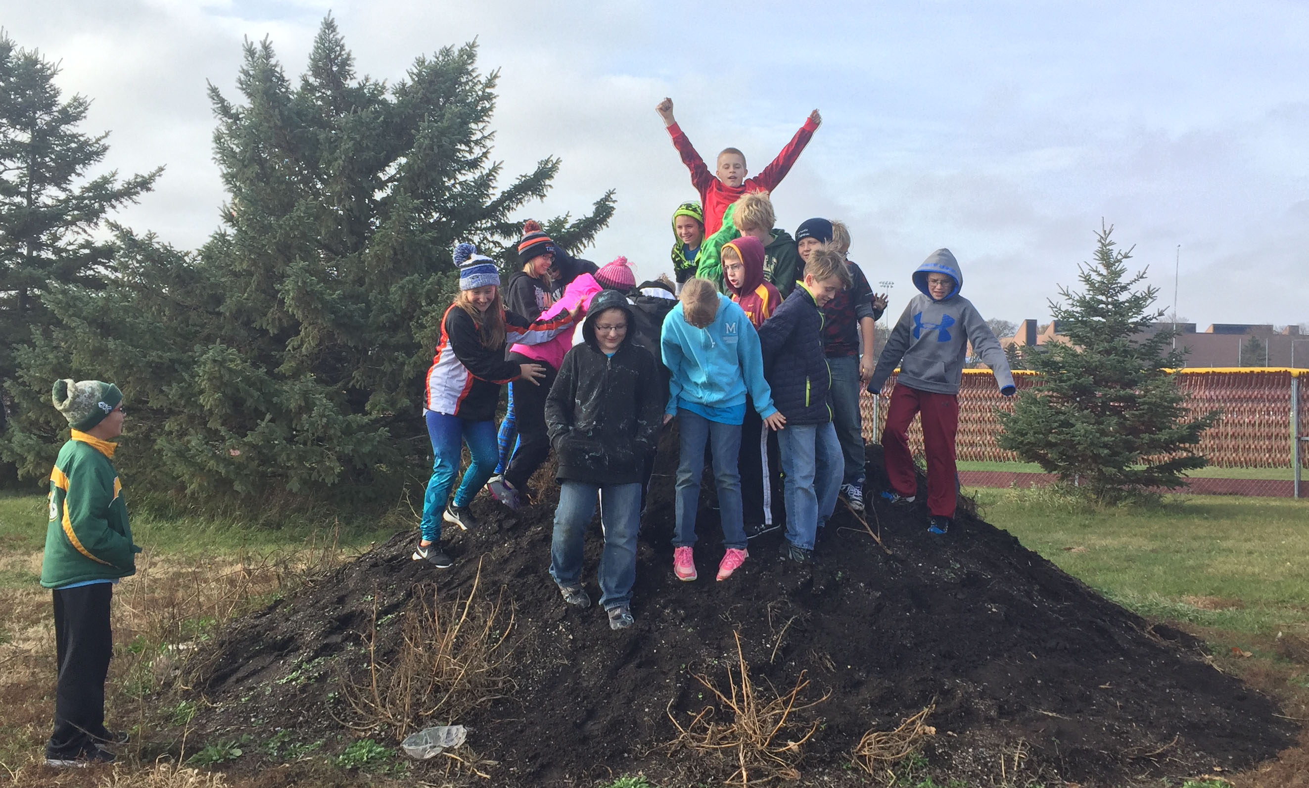 UMN Morris teamed up with the Morris Areas School District to start collecting organics in 2017, collecting nearly 100,000 lbs in the first two years.