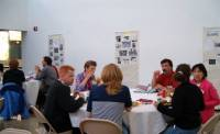 Lunch was another opportunity for conference participants to talk preservation.