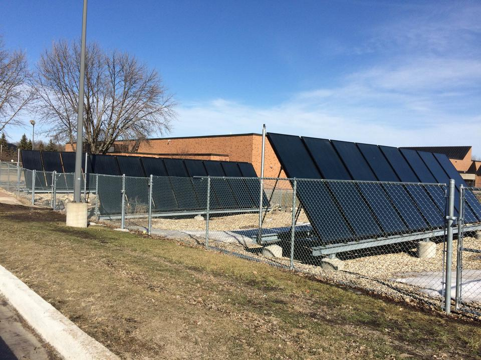 Solar power near Regional Fitness Center