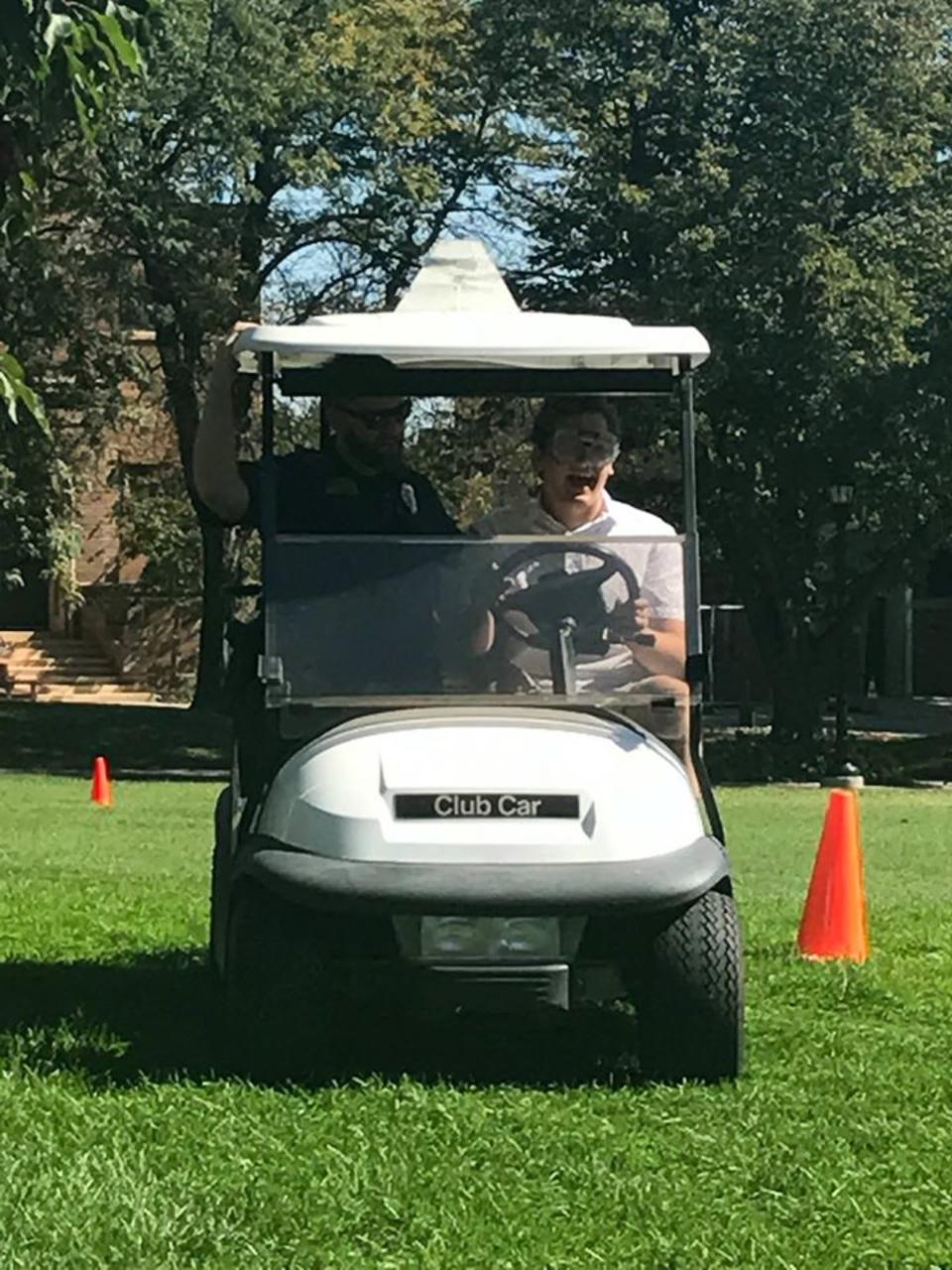 Fatal Vision driver in golf cart