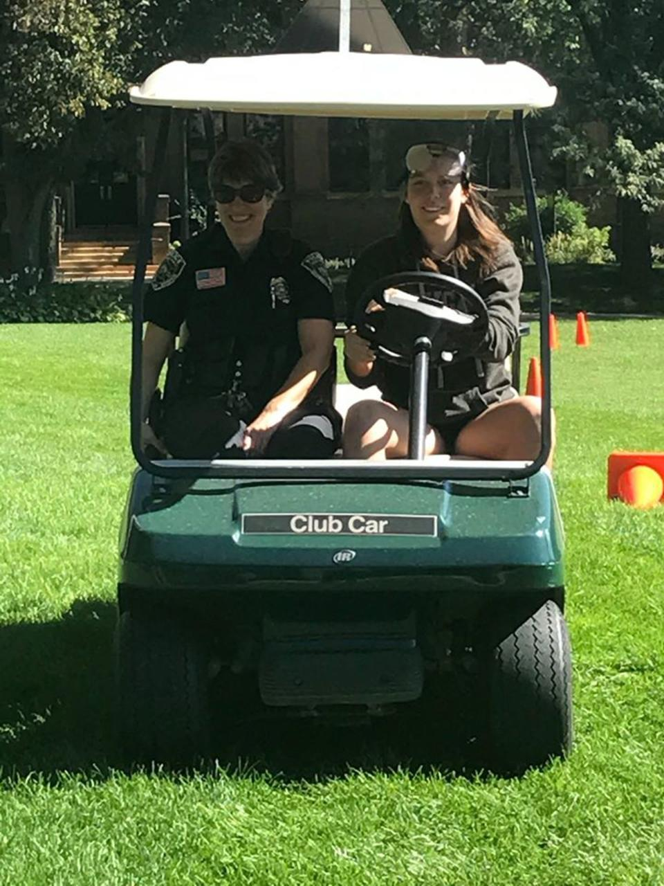 Fatal Vision participant in golf cart