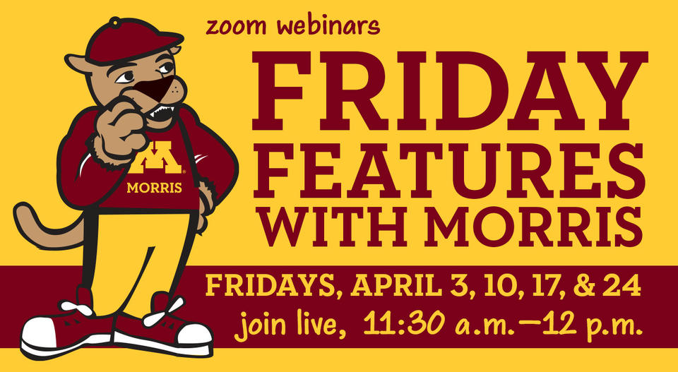 Zoom Webinars - Friday Features with Morris